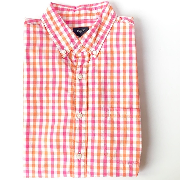 J. Crew Other - J. Crew | plaid bright colored button up M